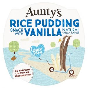 Auntys Vanilla Rice Pudding 120g