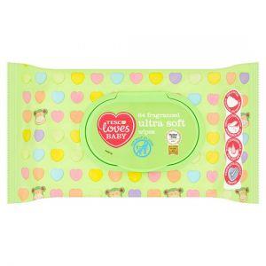 Tesco Loves Baby 64 Fragranced Ultra Soft Wipes