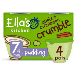 Ellas Kitchen Apple and Cinnamon Crumble 4X80g