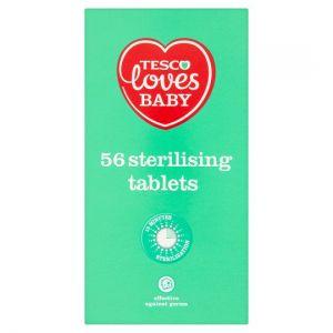 Tesco Loves Baby Sterilising Tablet 56 Pack