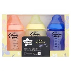 Tommee Tippee Colour My World Baby Bottles 3X260ml
