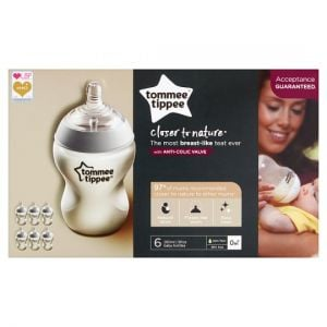 Tommee Tippee Closer To Nature Easivent Bottles 260ml X6