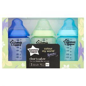 Tommee Tippee Cmworld 3X260ml Bottle Blue