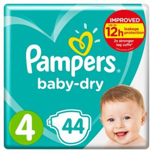 Pampers Baby Dry Size 4 Essential Pack 44 Nappies
