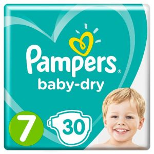 Pampers Baby Dry Size 7 Essential Pack 30 Nappies