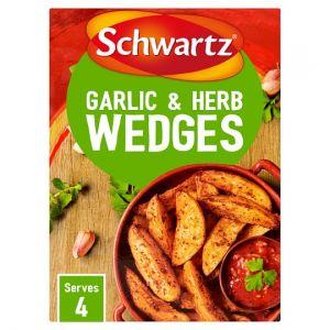 Schwartz Garlic & Herb Potato Wedges 38g