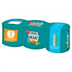 Heinz Baked Beans No Added Sugar In Tomato Sauce 3 X200g