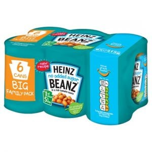 Heinz Baked Beans No Added Sugar In Tomato Sauce 6 X415g