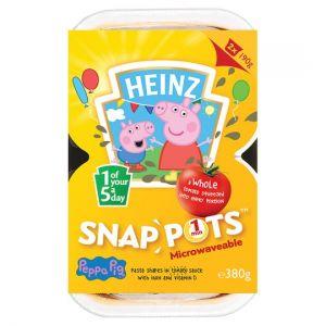 Heinz Snap Pots Peppa Pig Pasta Tomato Sauce 2 X190g