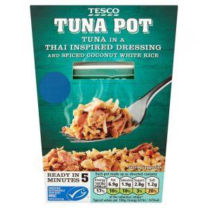 Tesco Tuna Pot Thai Style Dressing and White Rice 140g