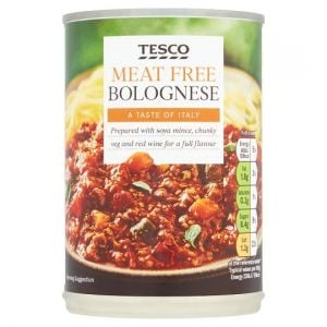 Tesco Meat Free Bolognese 400g
