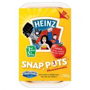 Heinz Snap Pots Pasta Shapes Tomato Sauce 2 X190g