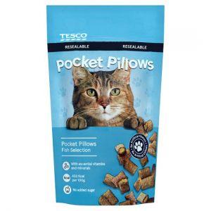 Tesco Pocket Pillow Fish Selection Cat Bites 65g