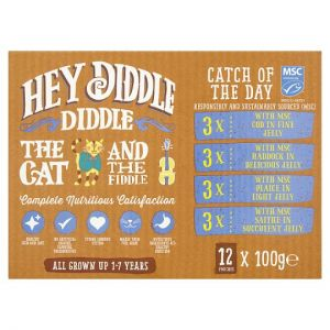 Hey Diddlediddle Fish Cat Food Pouches 12 X100g