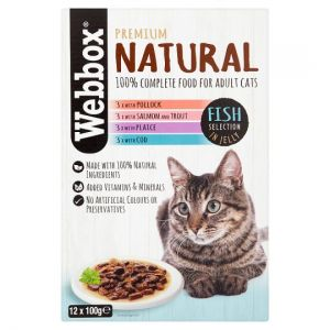 Webbox Natural Fish Selection In Jelly Cat Food 12X100g