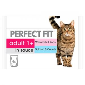 Perfect Fit Fish Cat Food Pouches 4 X 85g