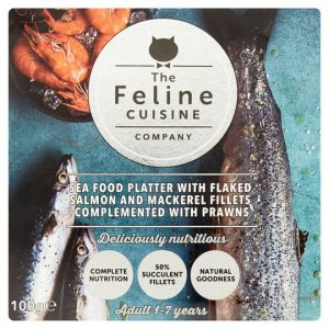 Feline Cuisine Seafood Cat Food Pouch 100g