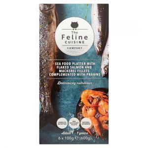 Feline Cuisine Seafood Cat Food Pouches 6 X100g