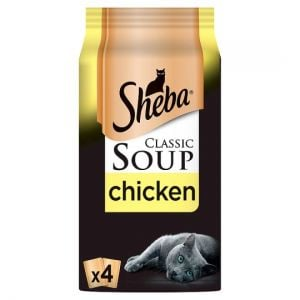Sheba Soup Chicken Cat Food Pouches 4 X40g