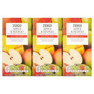Tesco Tesco Apple & Mango Juice Fc 3 X 200ml