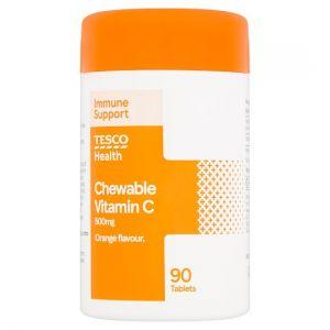 Tesco Chewable Vitamin C 500Mg 90S
