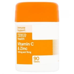 Tesco Vitamin C Plus Zinc X 90