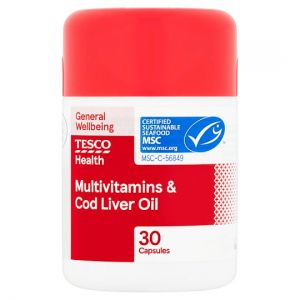 Tesco Multivitamins Plus Cod Liver Oil X 30