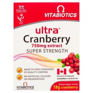 Vitabiotics Ultra Cranberry Tablets X30