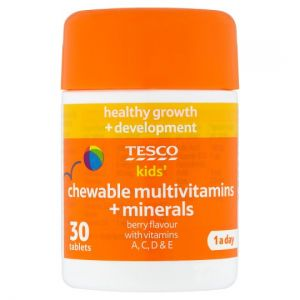 Tesco Kids Chewable Multivitamins Plus Minerals X 30