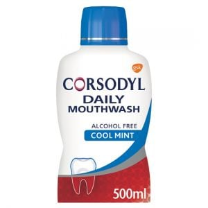 Corsodyl Cool Mint Gum Care Alcohol Free 500ml