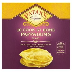 Pataks Plain Pappadums 10 Pack 100g