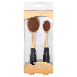 Brushworks Oval Brush Face Set