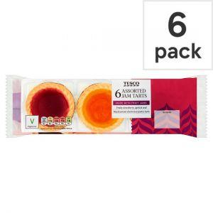 Tesco Assorted Jam Tarts 6 Pack