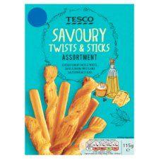 Tesco Savoury Twists and Sticks Assortment 115g