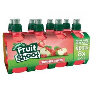 Robinsons Fruit Shoot Summerfruits No Added Sugar 8X200ml