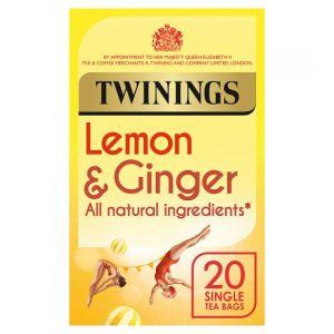 Twinings Lemon & Ginger 20 Teabags 30g