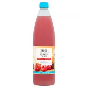 Tesco Fruit & Barley Summerfruits No Added Sugar 1L