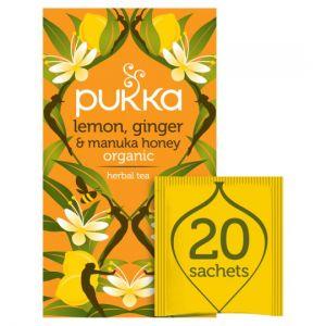 Pukka Organic Lemon & Ginger Honey 20 Tea Bags 40g