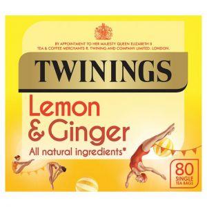 Twinings Lemon & Ginger 80 Tea Bags 120g