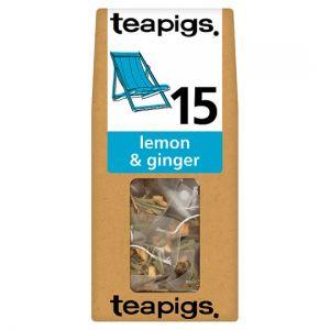 Teapigs Lemon and Ginger 15 Tea Bags 37.5g
