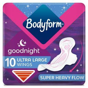 Bodyform Ultra Goodnight Sanitary Towels 10 Pack