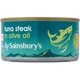 Sainsbury's Skipjack Tuna Steak in Olive Oil 200g