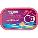 Sainsbury's Portugese Sardines in Oil with Chilli 120g