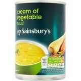 Sainsbury's Cream of Vegetable Soup 400g