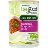 Sainsbury's Be Good to Yourself Moroccan Spinach and Chickpea Soup 400g