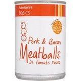 Sainsbury's Basics Meatballs in Tomato Sauce 392g