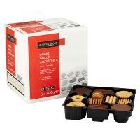 Bulk Buy Case of 5 x 400g Chefs Larder Sweet Biscuit Assortment
