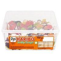 Bulk Buy Tub of Haribo Fruity Frogs 300 Pieces