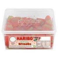 Bulk Buy Tub of Haribo Giant Strawbs