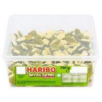 Bulk Buy Tub of Haribo Terrific Turtles Bubble Gum Flavour